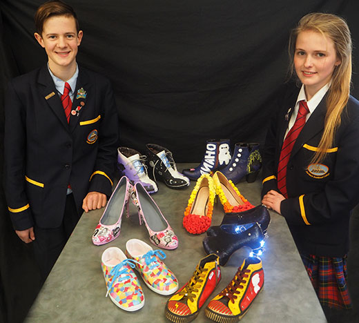 Northern Southland College Students display creative shoe designs