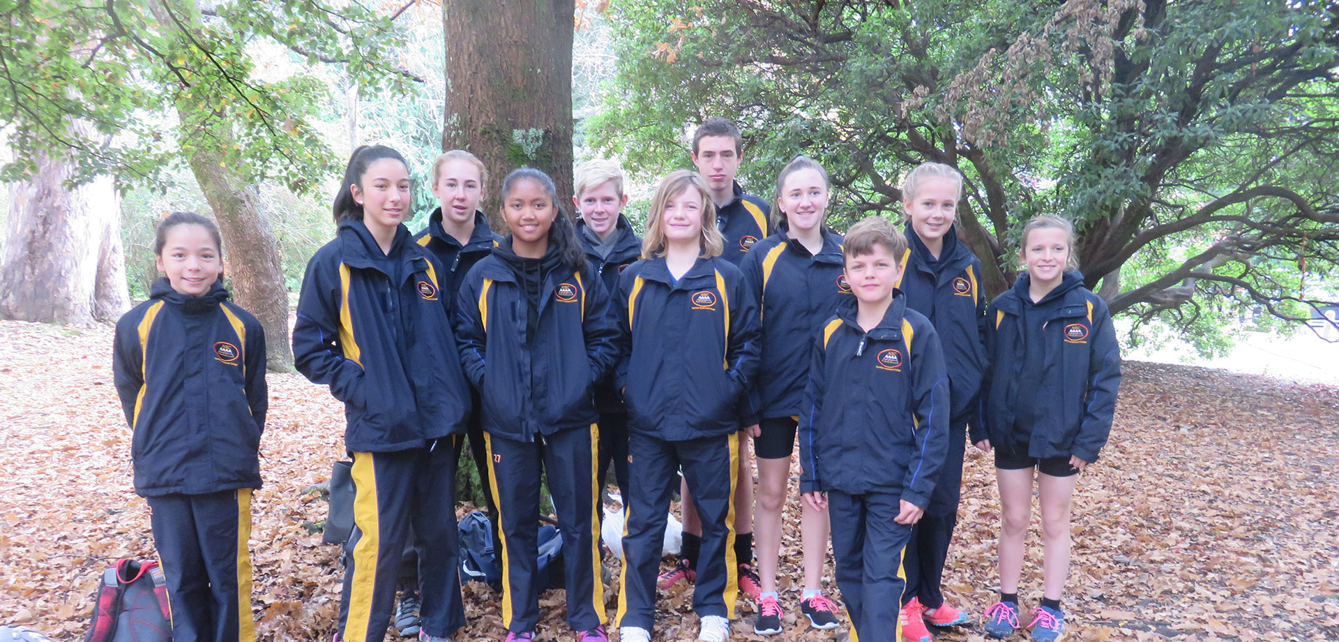 Friendly welcome from one of our cross country groups