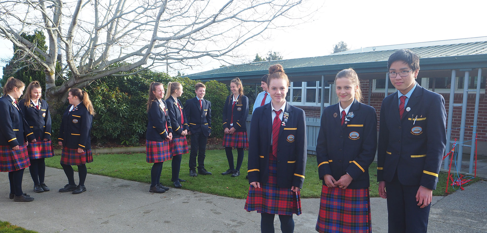 Meet some of the students on our school grounds
