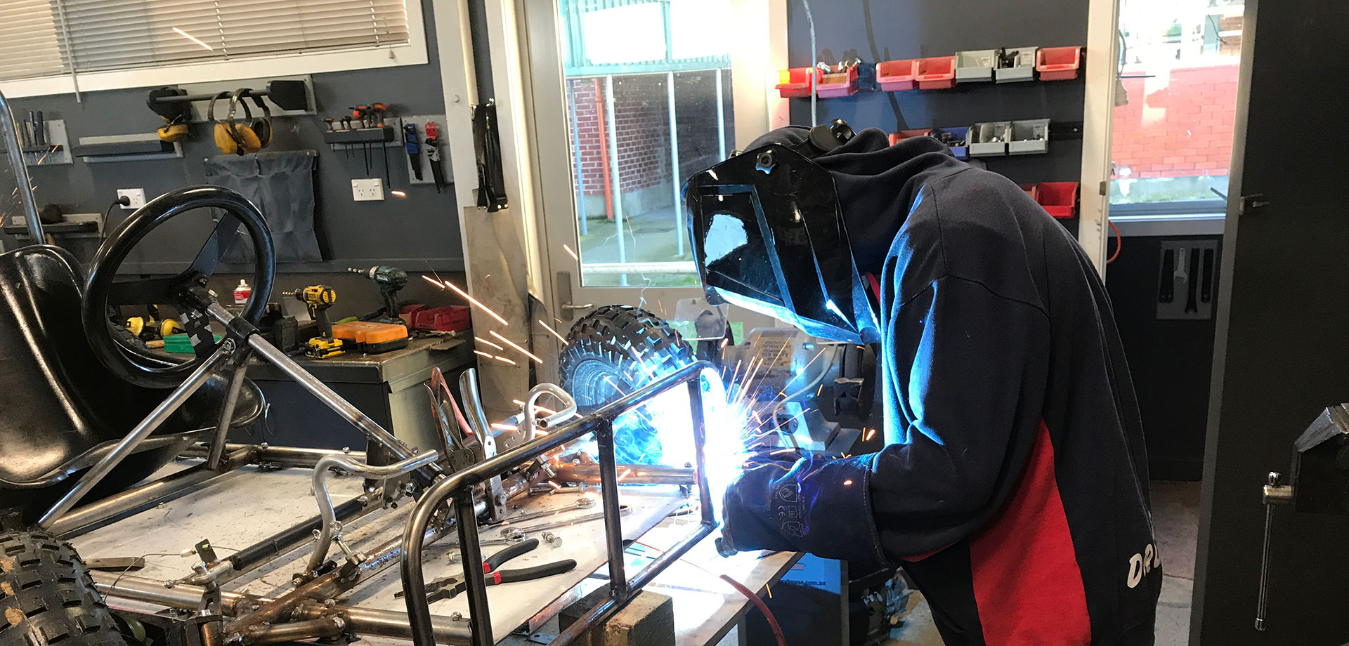 Learn some new skills at our school including welding